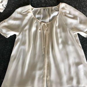 Shirt sleeve summer blouse